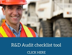 r&d tax credit checklists